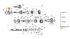 Rolamento Caixa de Cambio Eixo Piloto - Eaton - Caixa Eaton 240 e 260 / Ford F-1000 e F-4000
